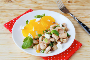winter salad with beans