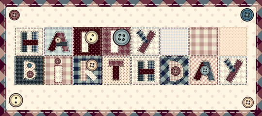 "Letters ""happy birthday"""