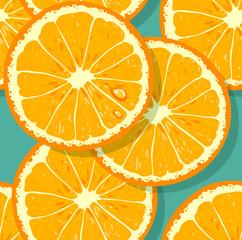 Fresh pattern with orange slices