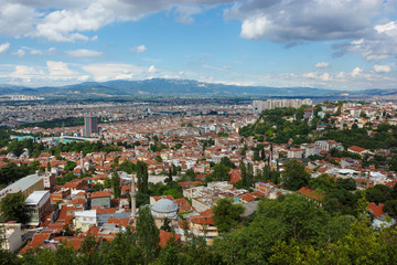 Panoramic view of Bursa city