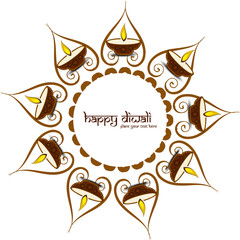 Happy diwali beautiful card hindu festival vector design