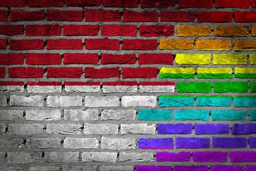 Dark brick wall - LGBT rights - Indonesia