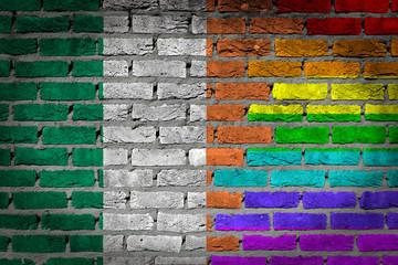 Dark brick wall - LGBT rights - Ireland