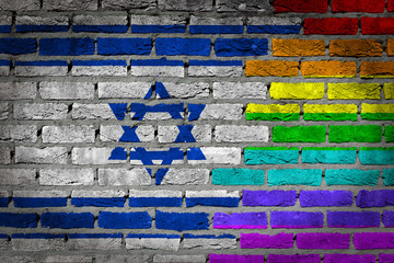 Dark brick wall - LGBT rights - Israel