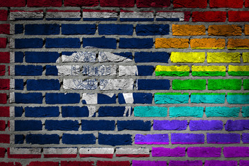 Dark brick wall - LGBT rights - Wyoming