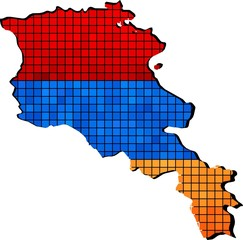 Armenia map grunge mosaic