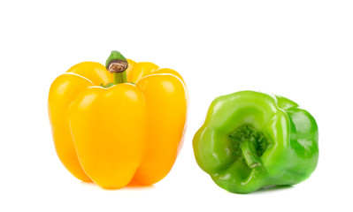 Two beautiful bell peppers.