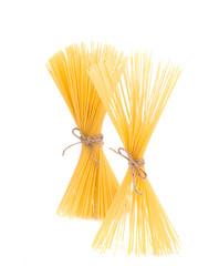Bow tie of italian spaghetti pasta.