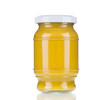 canvas print picture - Glass jar full of mustard.