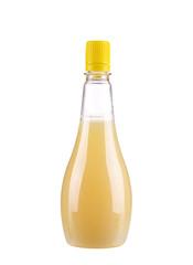 Bottle full of lemon juice.