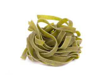 Tagliatelle with spinach.