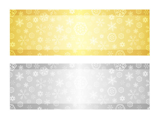 Christmas gift certificate with snowflake pattern