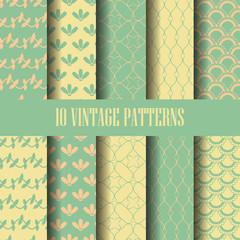 classic seamless pattern set, vector