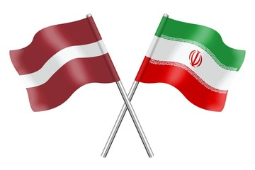 Flags: Latvia and Iran