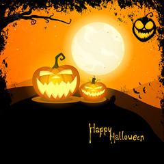 Vector Illustration of a Creepy Halloween Background