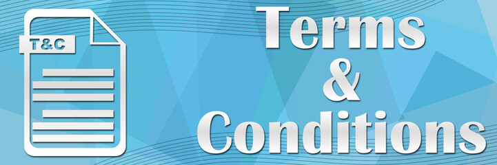 Terms and Conditions Blue Banner