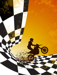 motocross background design with grunge elements