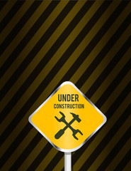 under construction page vector background design