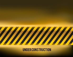 under construction background with copyspace