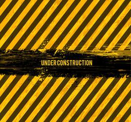 under construction grunge vector design