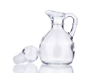 Glass carafe.