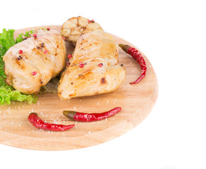 Grilled chicken fillet.