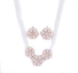Pearl earrings.