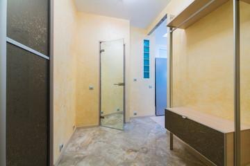 Beautiful modern hallway with mirrored door