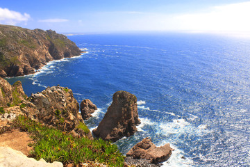 Cabo da Roca, coast of Portugal, the most western point of Europ