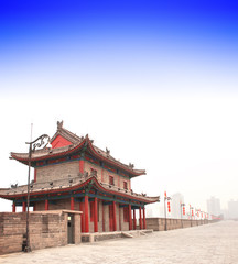 Old wall in Xi'an, China