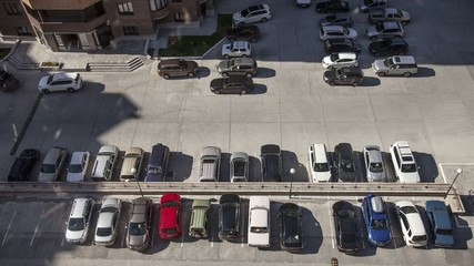 Stock Video Footage Parking cars come and go