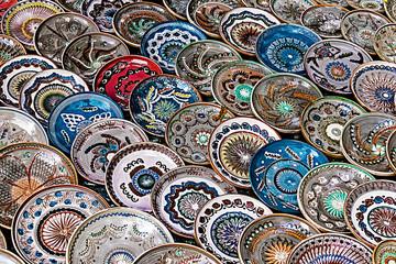 Romanian traditional ceramic plates 1