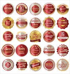 Premium, quality retro vintage golden labels collection