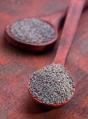 Dry poppy seed