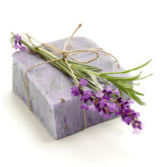 Lavender homemade soap
