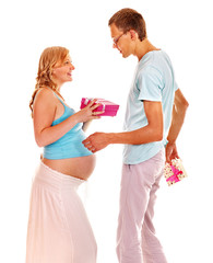 Pregnancy woman with husband.