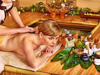 Woman getting aroma massage.