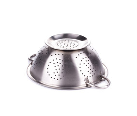Steel strainer sieve metal bowl.