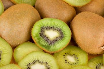 Bunch of kiwi fruits whole.