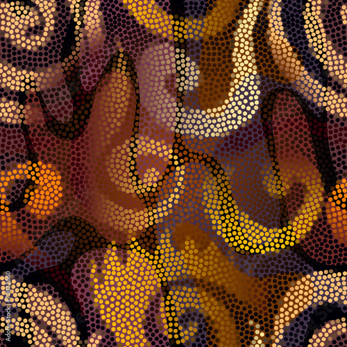 Ethnic pattern from circles