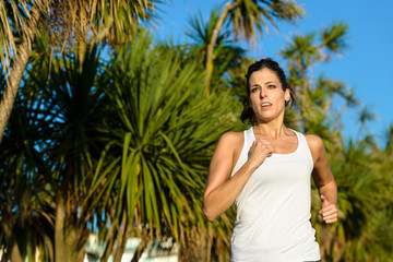 Woman running for healthy lifestyle