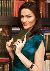 stock photo portrait of beauty young woman reading book in