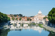 River Tiber, Ponte Sant Angelo and St. Peter's Basilica