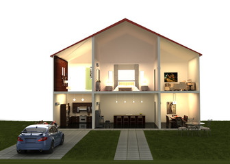 dream house fantasy render