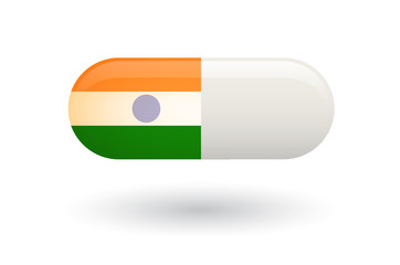 Pill with a flag of India
