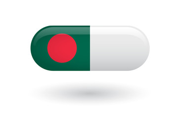 Pill with a flag of Bangladesh