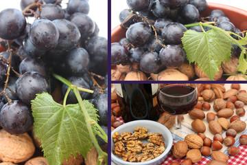 Vin rouge  -  Raisin noir - Noix  Noisettes