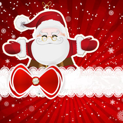 Christmas background with christmas decor elements