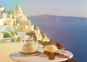 romantic vacation in Santorini