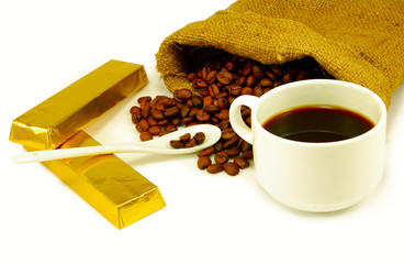 coffee in the Cup, coffee beans, chocolate